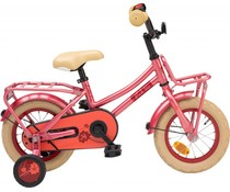 "Loekie kinderfietsen Loekie Pick Up meisjesfiets 12"" Soft Red 3+"