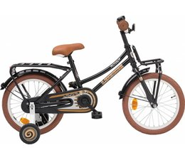 "Loekie kinderfietsen Loekie Pick Up meisjesfiets 16"" Zwart 4+"