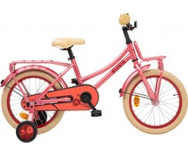 "Loekie kinderfietsen Loekie Pick Up meisjesfiets 16"" Soft Red 4+"