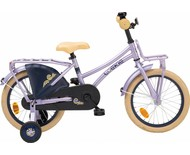 "Loekie kinderfietsen Loekie Country Tour 16"" meisjesfiets Purple Matte 4+"