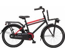 "Loekie kinderfietsen Loekie Pick Up jongensfiets 20"" Black-Red 6+"