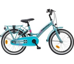 "Loekie kinderfietsen Loekie Superstar meisjesfiets 22"" Green 6+"