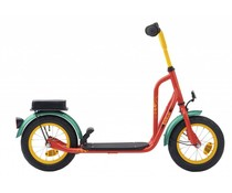 "Loekie kinderfietsen Loekie 12"" autoped Retro Red met luchtbanden 4+"
