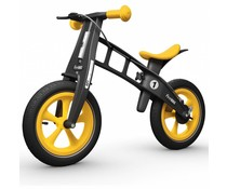 FirstBike FirstBike loopfiets Limited Edition Geel Met Rem 2+