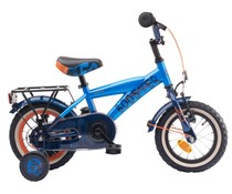 "Loekie kinderfietsen Loekie Booster 12"" Jongensfiets Blue-Dark Blue 3+"