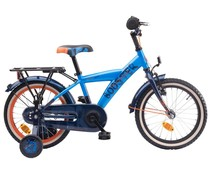 "Loekie kinderfietsen Loekie Booster 16"" Jongensfiets Blue-Dark Blue 4+"