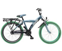 "Loekie kinderfietsen Loekie Snake jongensfiets 22"" 3-speed Bluegray-Midnight Blue 6+"