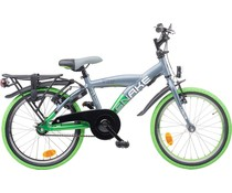 "Loekie kinderfietsen Loekie Snake jongensfiets 18"" Grey-Applegreen 5+"