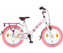 "Alpina kinderfietsen Alpina Girlpower 16"" Meisjesfiets Pure White 4+"