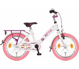 "Alpina kinderfietsen Alpina Girlpower 18"" meisjesfiets Pure White 5+"