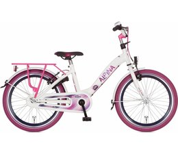 "Alpina kinderfietsen Alpina Girlpower 20"" meisjesfiets Pure White 6+"
