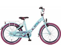 "Alpina kinderfietsen Alpina Girlpower 22"" Meisjesfiets Pale Blue 6+"