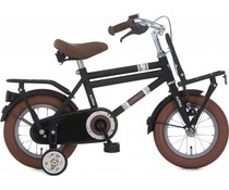 "Alpina kinderfietsen Showroom model - Alpina Cargo jongensfiets met voordrager 12"" Black Matt 3+"