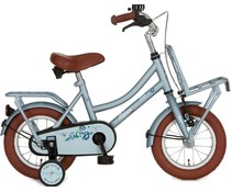 "Alpina kinderfietsen Showroom model -  Alpina Cargo meisjesfiets met voordrager 12"" Misty Blue Matt 3+"