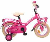 "Loekie kinderfietsen Showroom model - Loekie Prinses meisjesfiets 12"" Pink 3+"