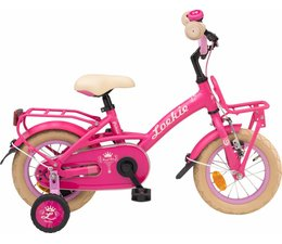 "Loekie kinderfietsen Showroom model - Loekie Prinses meisjesfiets 12"" Pink 3+"