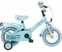 "Loekie kinderfietsen Showroom model - Loekie Superstar meisjesfiets 12"" Lichtblauw 3+"