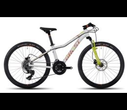BikeFun Ghost Lanao Kid Meisjes MTB 24  white/lime/orange