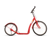 BikeFun Bike2go grote autoped 20-24 inch rood 12+