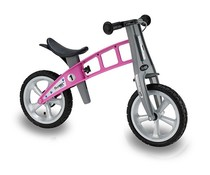 FirstBike Showroom model - Firstbike loopfiets met massieve banden en handrem Roze 2+