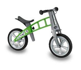 FirstBike Showroom model - Firstbike loopfiets groen met massieve banden zonder handrem
