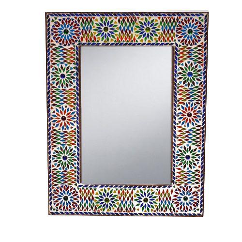 Marokkaanse Spiegel Groot.Marokkaanse Spiegel Mozaiek Kleurrijk Glas