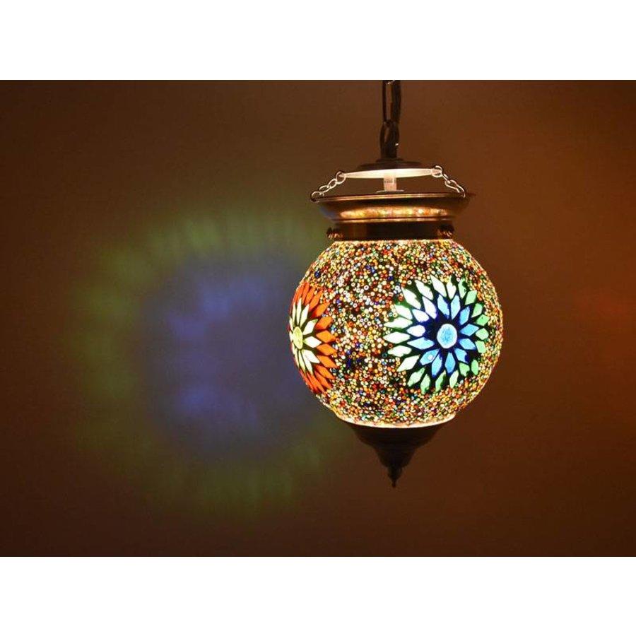Hanglamp bol mozaïek multi colour kraal