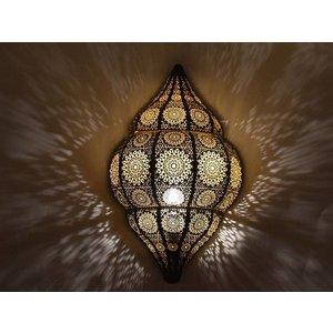 Zwarte oosterse wandlamp 1001nacht