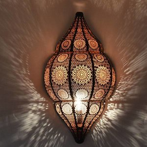 Zwart koperen oosters wandlamp