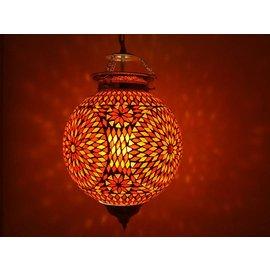 Hanglamp mozaïek rood