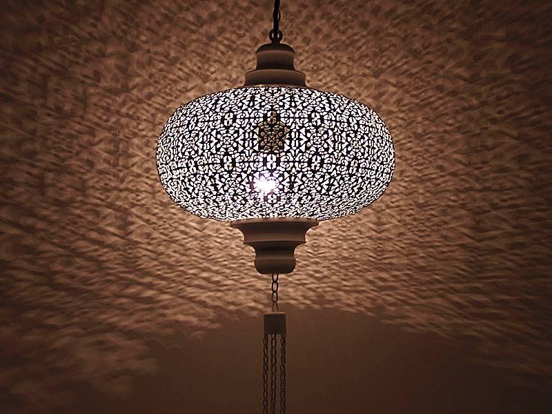 Zeer Bruine oriëntaals Marokkaanse hanglamp - Merel in Wonderland EW06