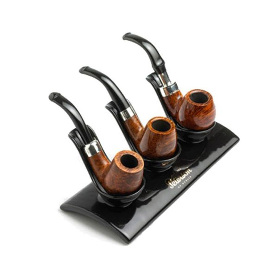 Pipe Stand Peterson Ceramic Black for 3 Pipes