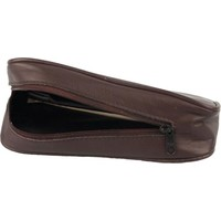 Leather Pipe Pouch for 1 pipe Black