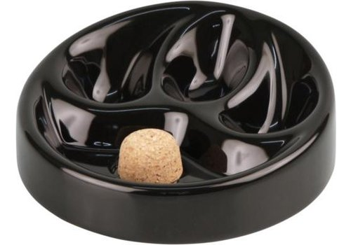 Pipe Ashtray Black Shiny 3 pipes
