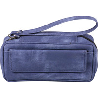 Leather-Look Pipe Pouch for 2 pipes Jeans Blue