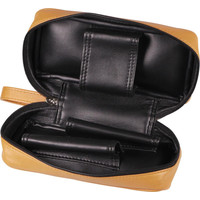 Leather-Look Pipe Pouch for 2 pipes Light Brown