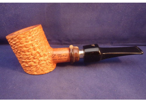 Pipe Luigi Viprati Rusticated with Ring