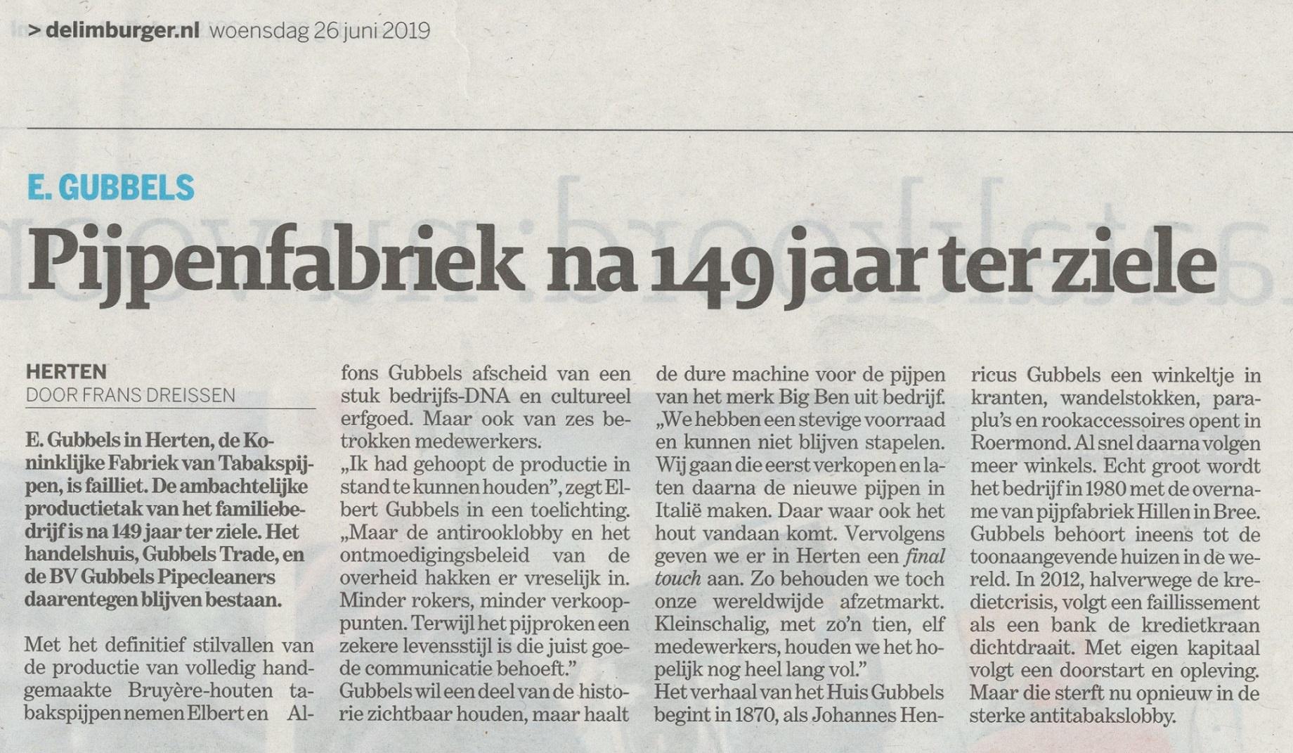 Helaas het einde van onze Nederlandse pijpenfabriek
