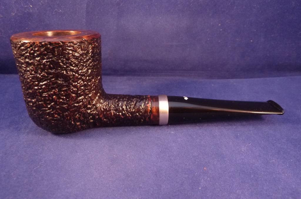 Sold Smoking Pipe Caminetto (08) Rusticated Billiard