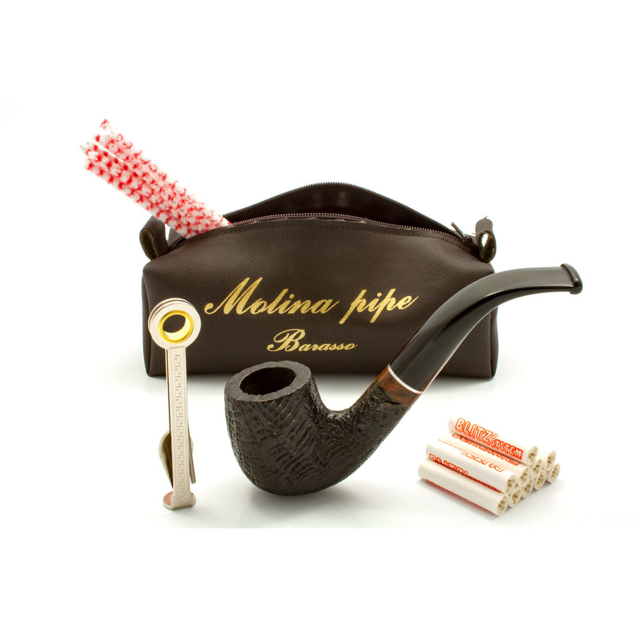 Pipe Molina Beginner Set Sandblast Bent