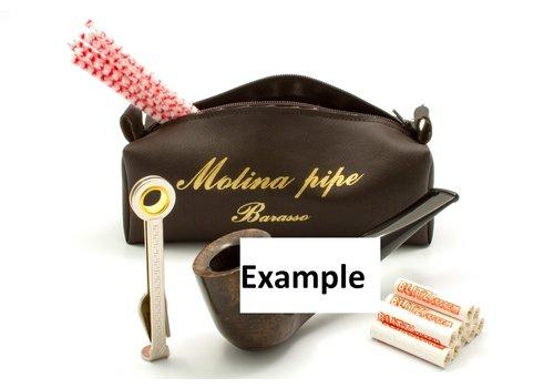 Pipe Molina Beginner Set Burgundy Bent