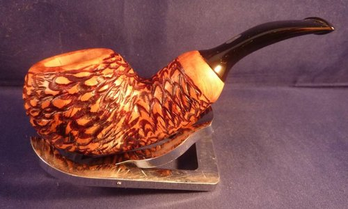 Sold Smoking Pipe Chacom Reverse Calabash Rustic
