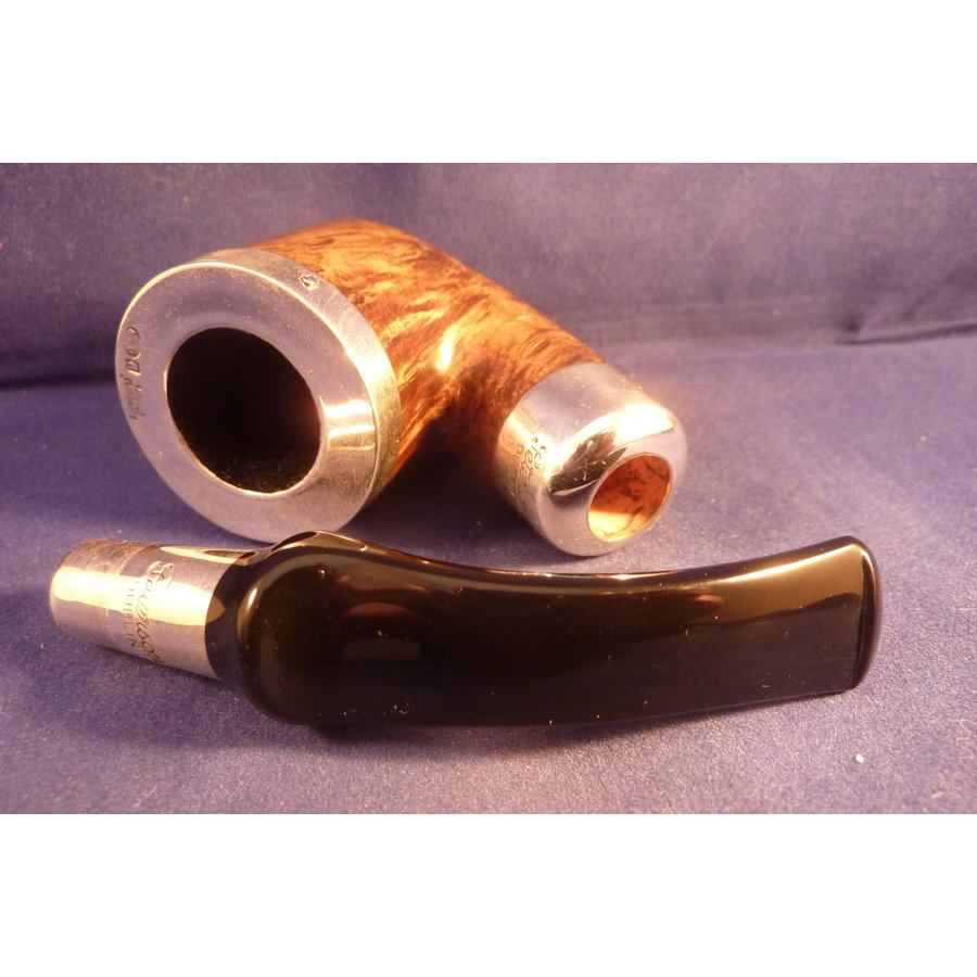 Pijp Peterson Spigot Brown Silver Cap 01