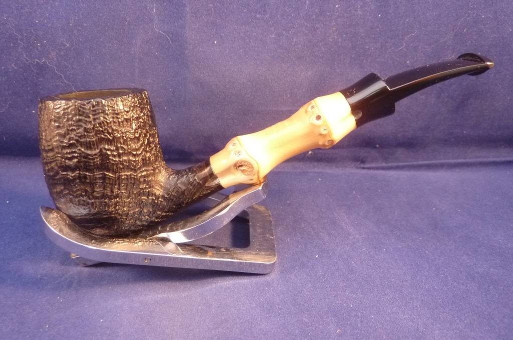 Sold Smoking Pipe Tsuge Bamboo Sandblasted