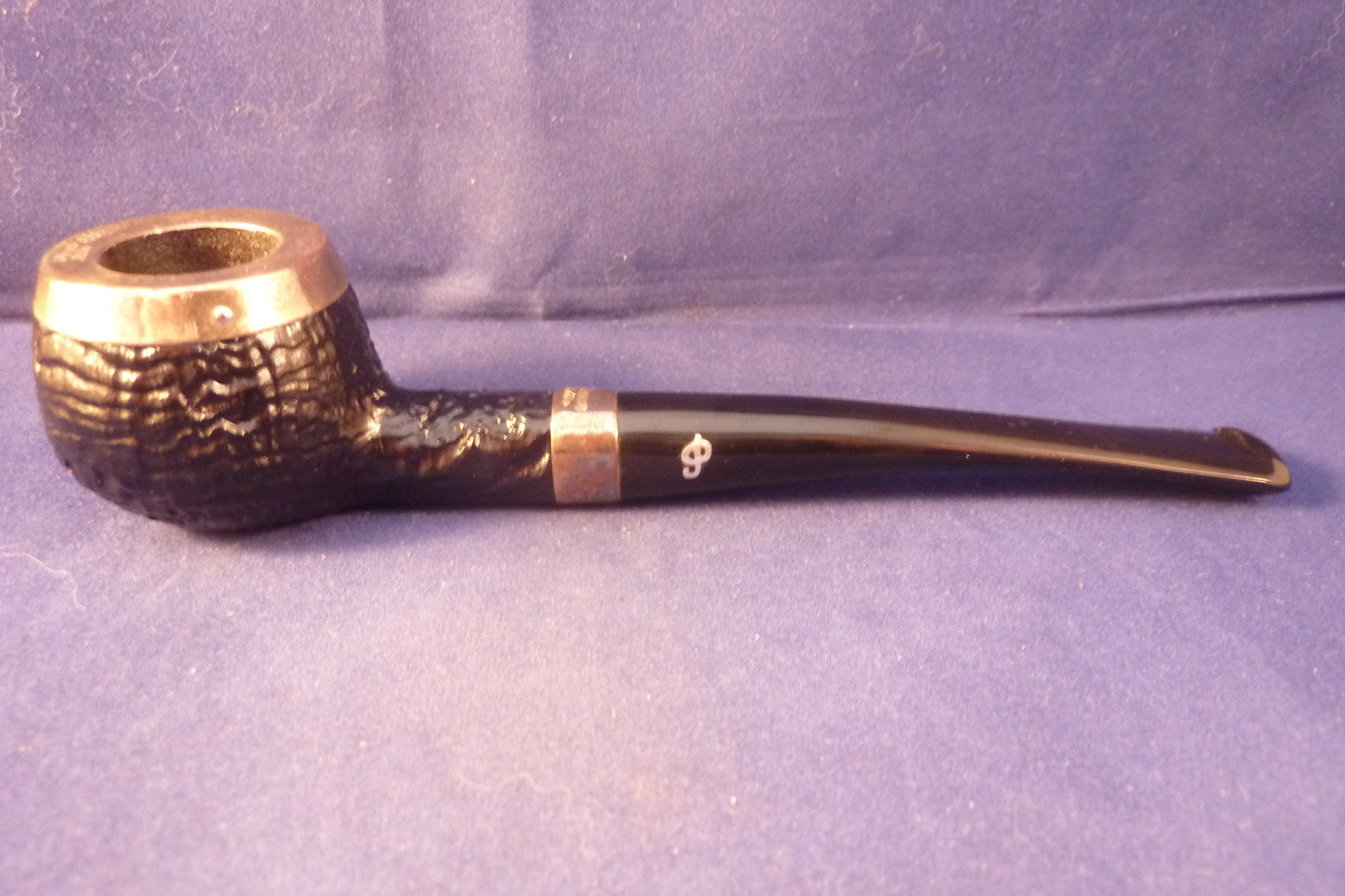 Sold Smoking Pipe Peterson Silver Cap 406 Sand