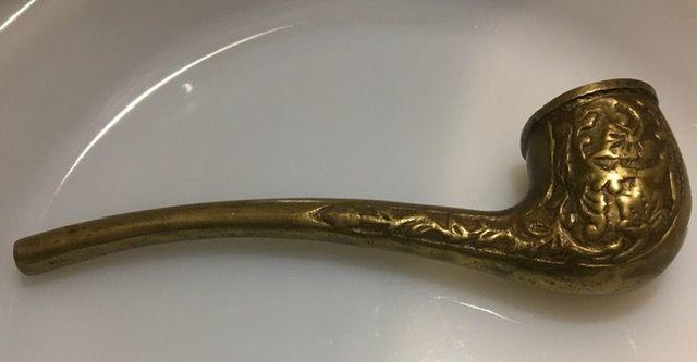 Koperen of bronzen tabakspijp