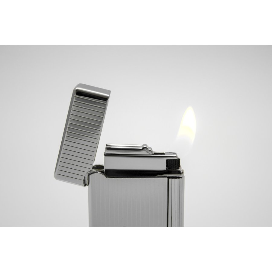 Pipe Lighter Rattray's Grand Chrome Stripes