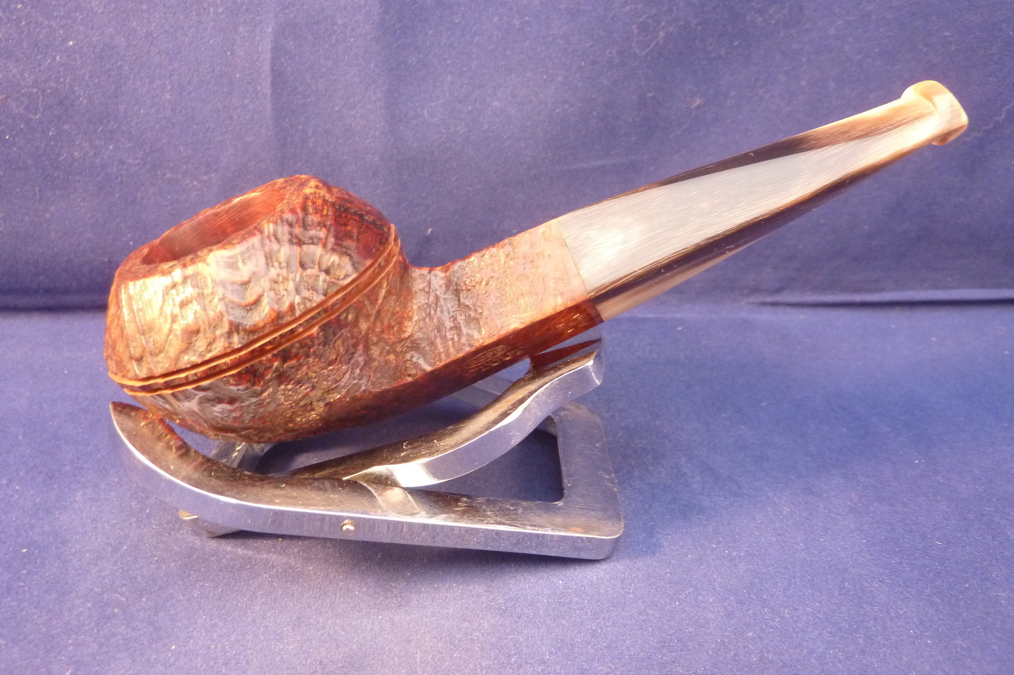 Sold Smoking Pipe Ropp Stout Vintage Sandblasted Bulldog Flat