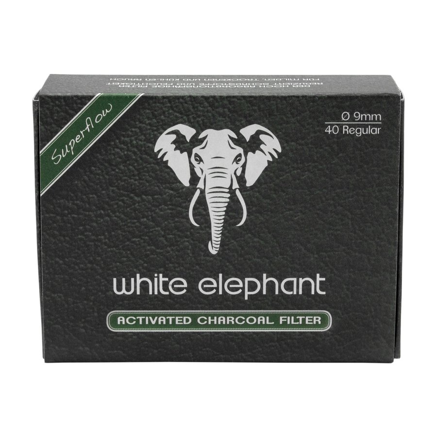 White Elephant Active Charcoal Filter 9 mm. (40)