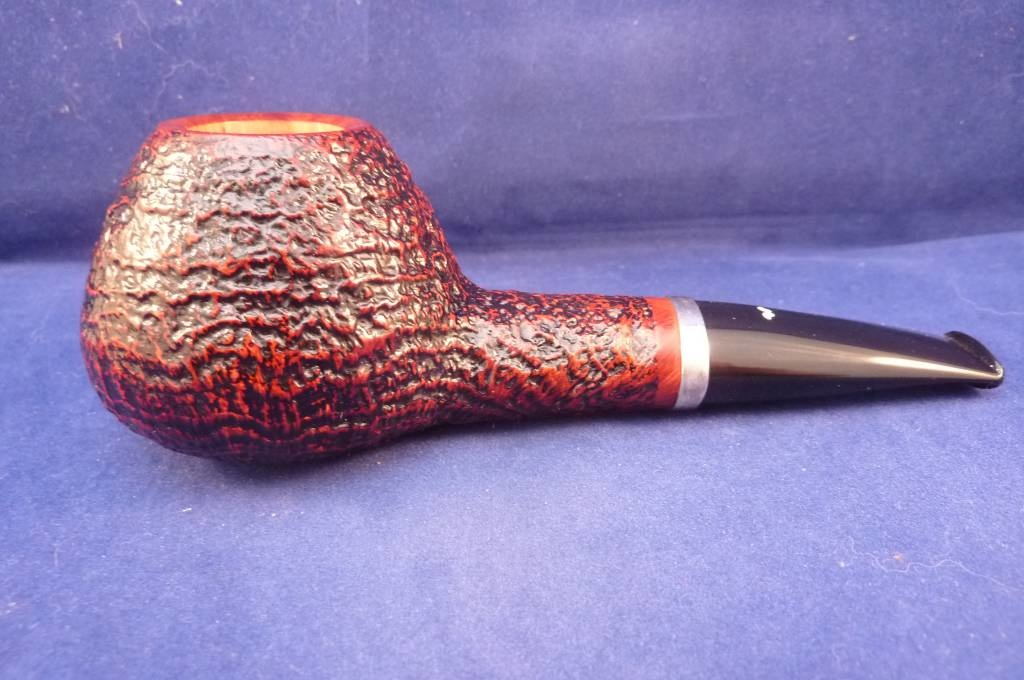Sold Smoking Pipe Caminetto (06) Sandblasted Brandy